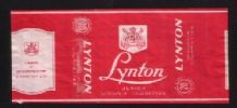 Old cigarette packet tobacco label Lynton scarce #674